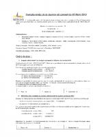 Conseil Municipal  2 Mars 2015